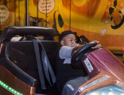 It's on the bumper cars of Fun World that he learnt how to drive ;-)