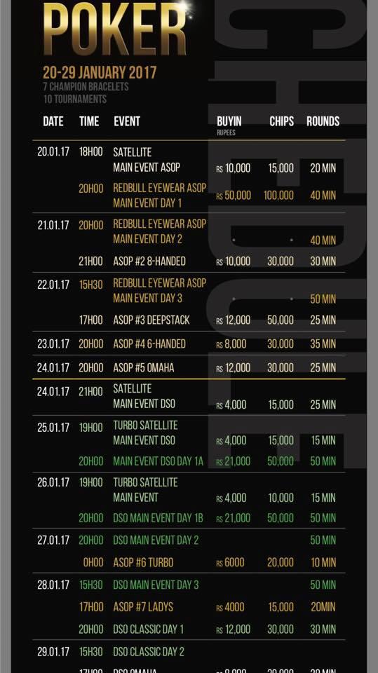 ASOP schedule
