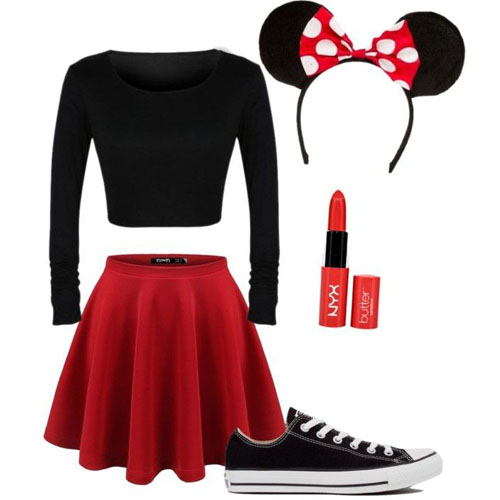 Minnie. Dressing up as this cute mouse is a very simple Halloween costume. A red skirt and a black top are the essential components.  sc 1 st  Fun World & 10 last-minute Halloween costume ideas - Fun World